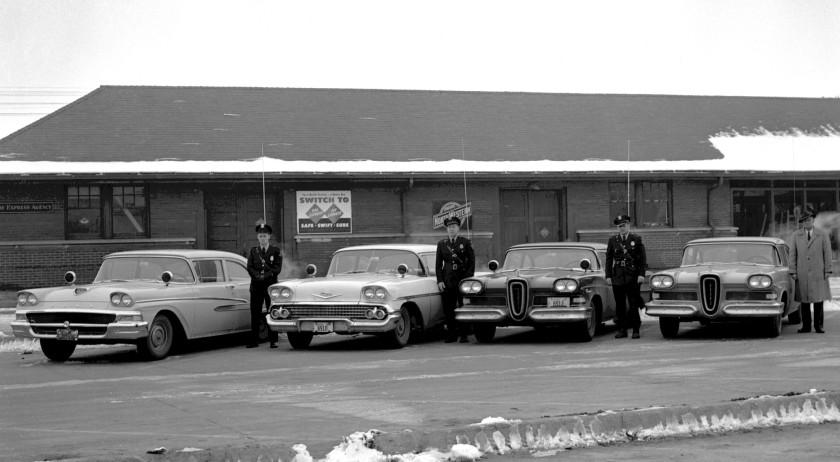 1958 police cars edsels depot c