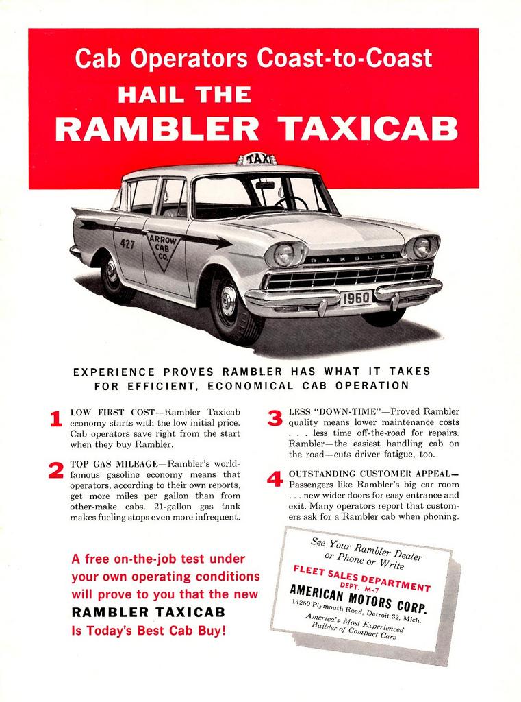 1960 Rambler Taxicab Ad