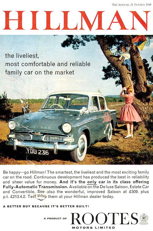 1961 hillman minx s3b october'60