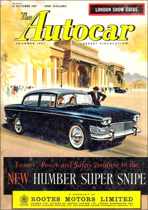 1961 humber super snipe october'60
