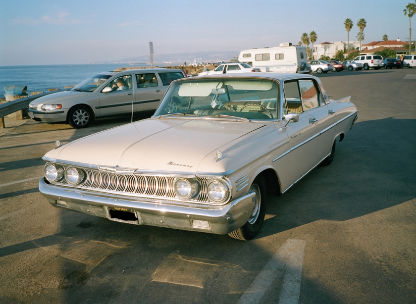 1961 Mercury Meteor 800 four-door hardtop in Tawny Beige.
