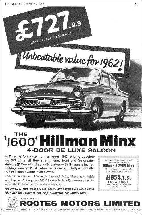 1962 hillman minx s3c