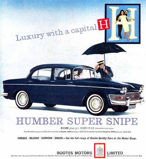 1963 humber super snipe saloon