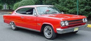 1965 AMC Rambler Marlin_FrontRightSide_RedWht