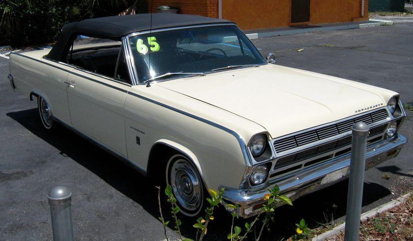 1965 Rambler Ambassador 990 convertible yellow pb-fr