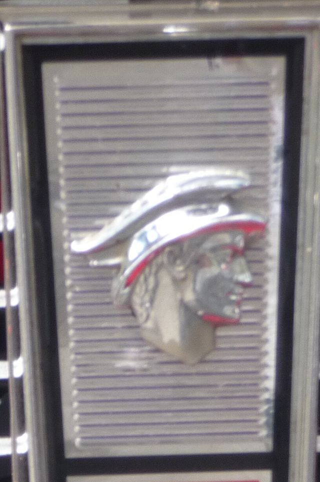 1965 the original  God's Head logo seen on a 1965 Mercury Comet Caliente