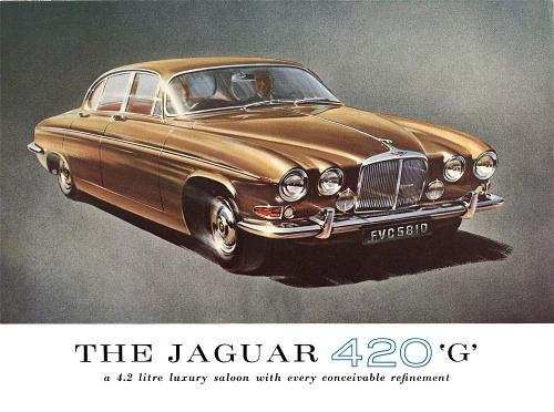 1966 jaguar 420g blue cf 3 l