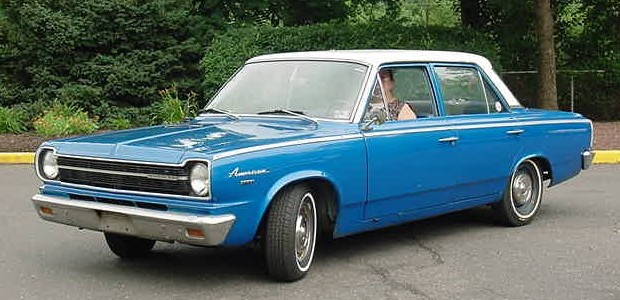 1966 Rambler American 4door-blue Third generation
