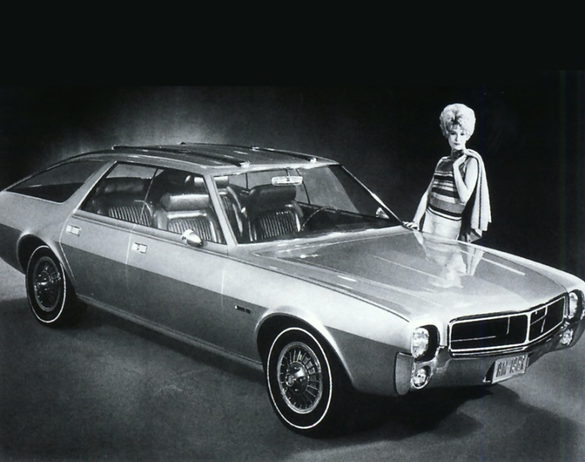 1967 AMC AMX III Concept Car - to become a Javelin Frt Qtr BW