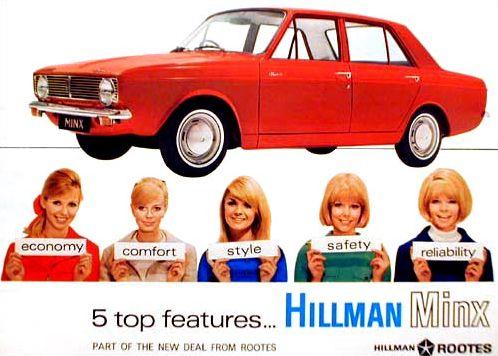 1968 hillman hunter saloon