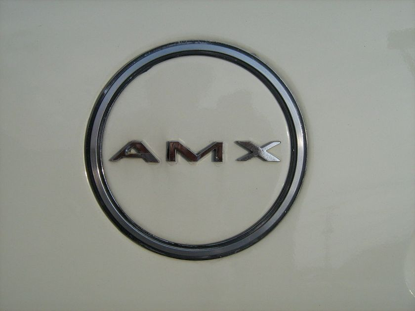 1968+1968 'AMX' badge AMC