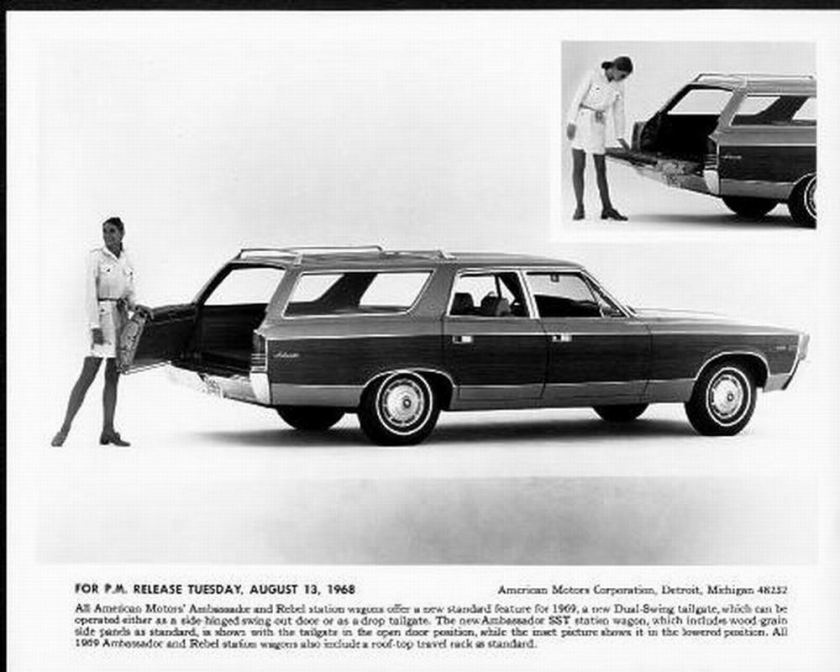 1969 AMC Ambassador Sst Station Wagon Bw