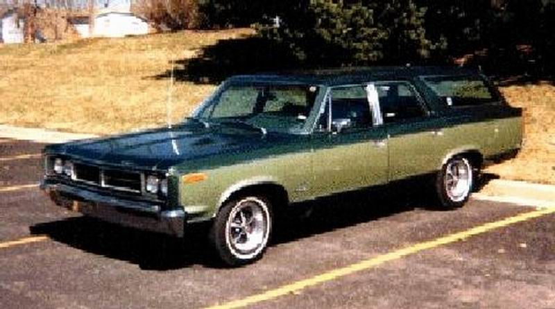 1970 AMC Rebel Station Wagon Greengreen