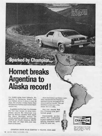 1970_AMC_Hornet_Champion_spark_plug_ADV_Argentina_to_Alaska