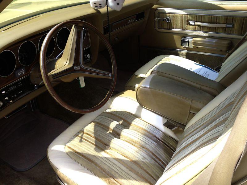 1974 Mercury Montego MX Brougham hardtop interiour