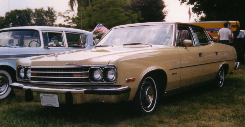 1974_AMC_Ambassador_Brougham_4-door_sedan_beige