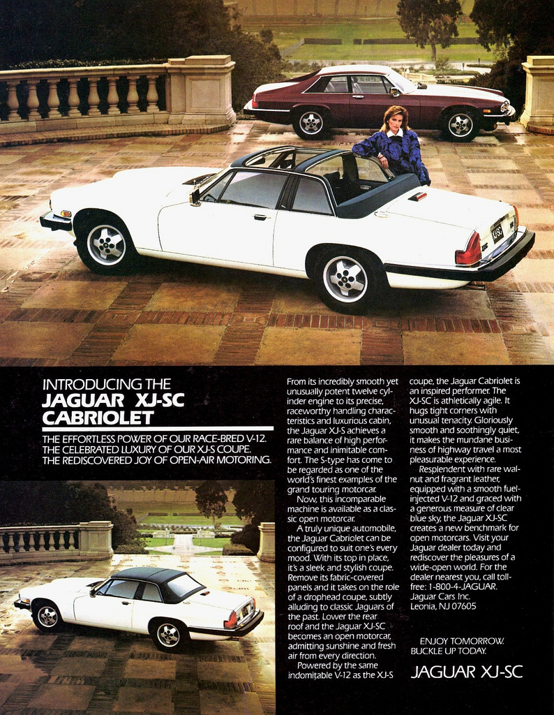 1986 Jaguar XJ-SC Cabriolet