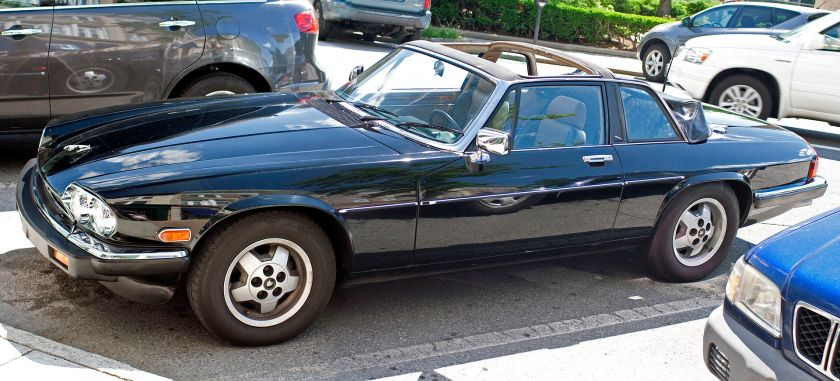 1986 Jaguar XJ-SC targa convertible (US spec, with twin headlights)