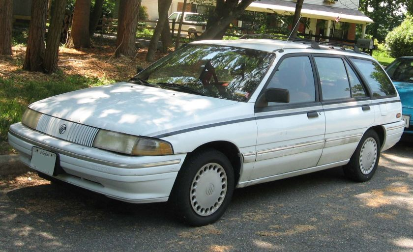 1991-95 Mercury Tracer photographed in USA.