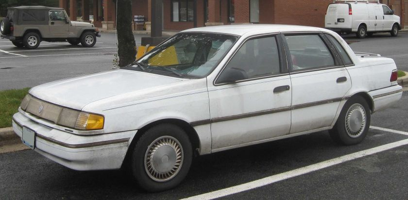 1992–94 Mercury Topaz GS sedan