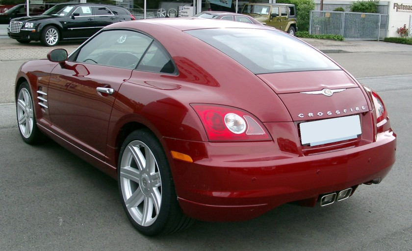 2008 Crossfire's roof, rear fenders, and rear end design resembled the Marlin's