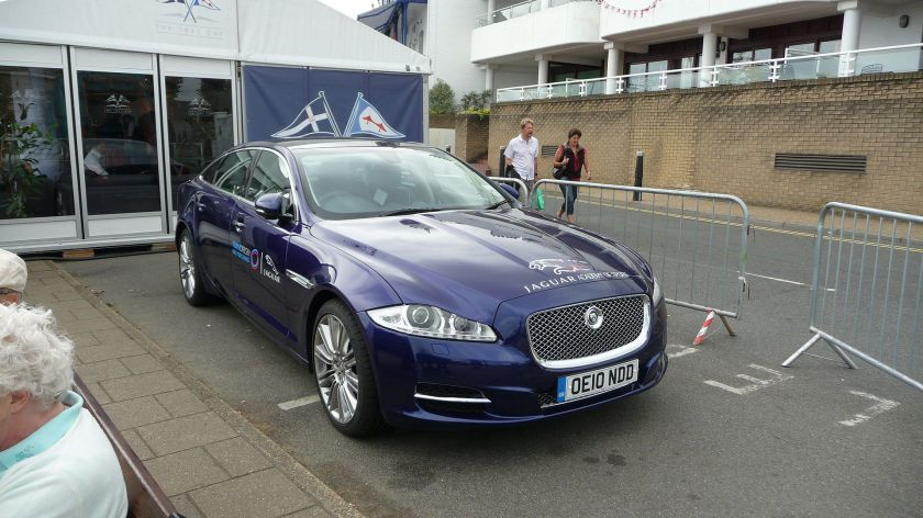 2010 Jaguar XJ X351 on Cowes Parade during Cowes Week 2010