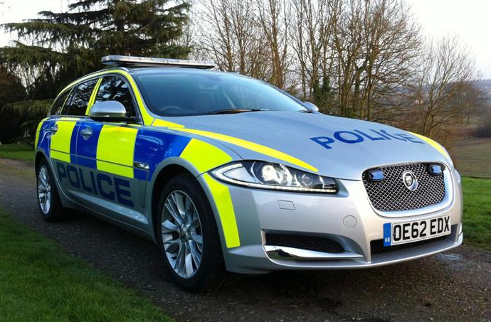 2011 facelift Jaguar XF Sportbrake police car