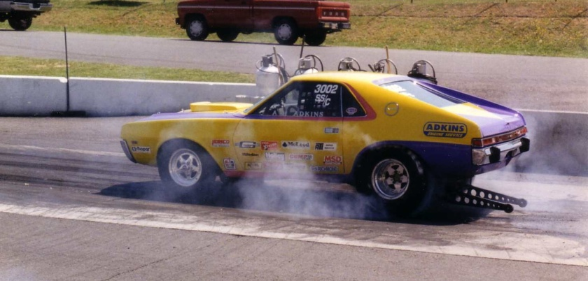 AMC_AMX_Adkins_burnout_before_dragrace