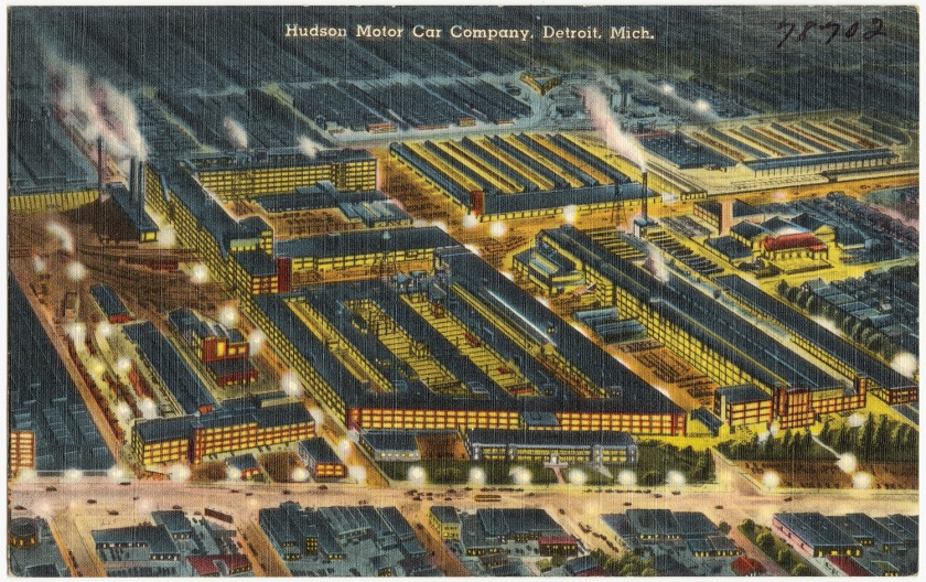 Hudson Motor Car Co. factory in Detroit, circa 1930-1945