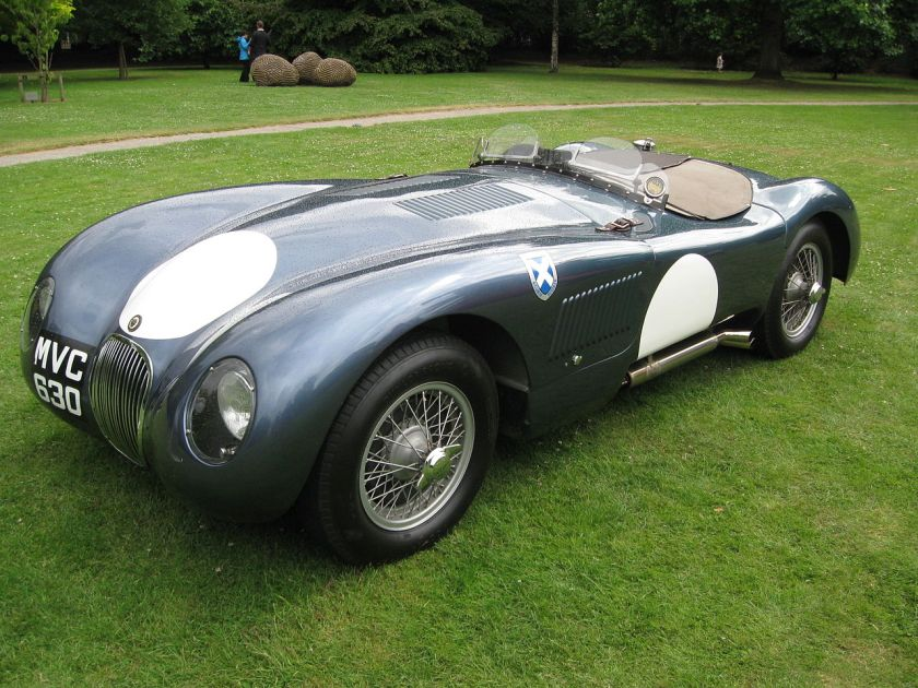 Jaguar C-Type in Ecurie Ecosse colours