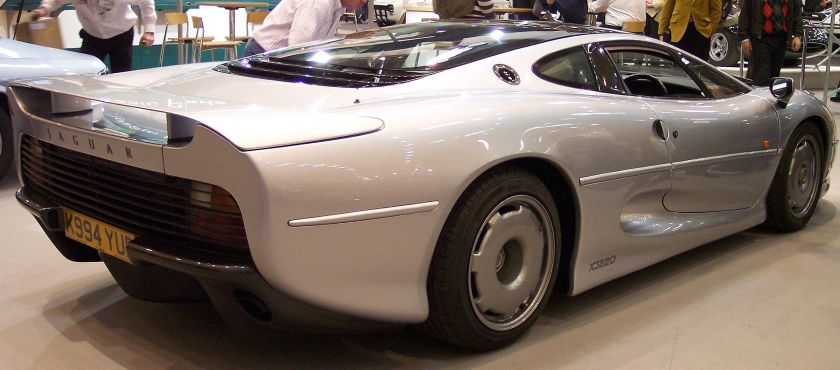 Jaguar Rear three-quarters view of the production XJ220