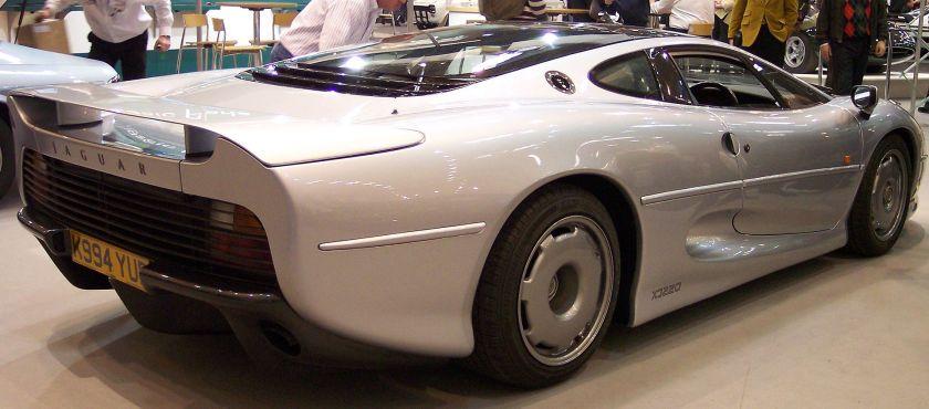 Jaguar Rear three-quarters view of the production XJ220
