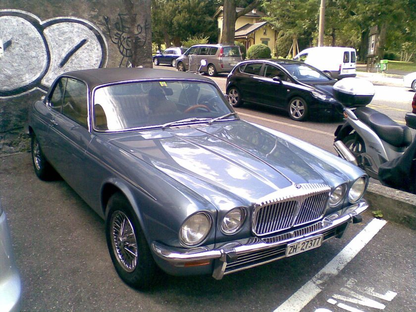Jaguar XJ coupe in Geneva,Switzerland
