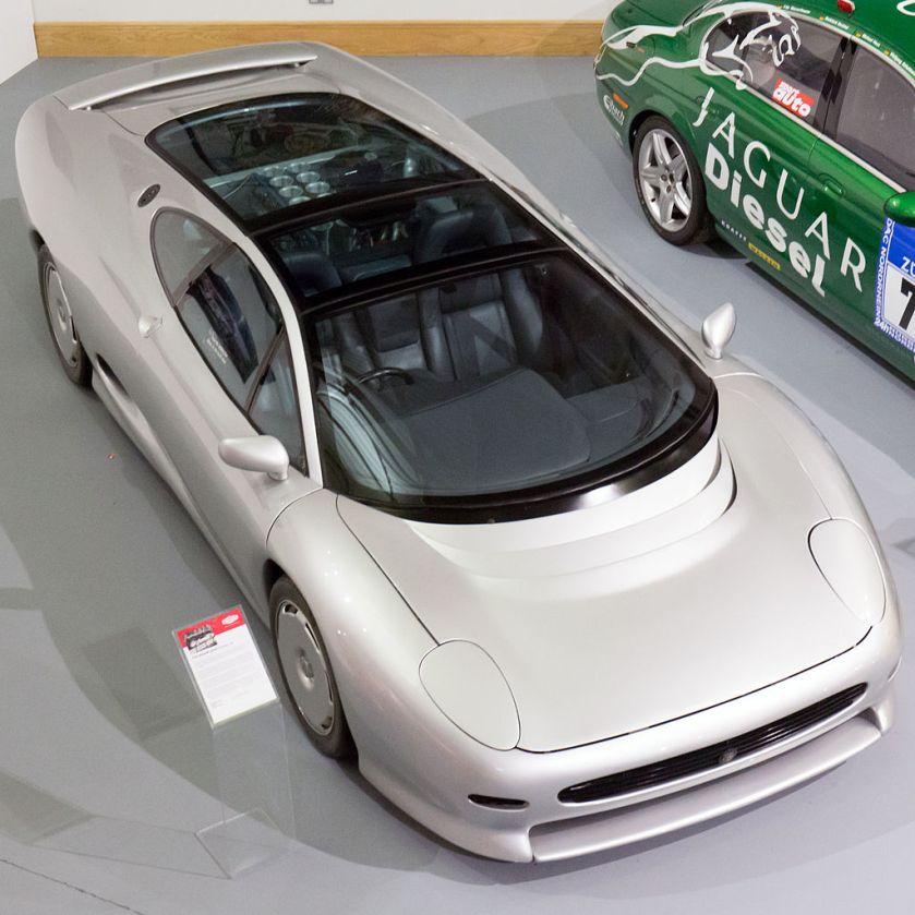 Jaguar XJ220 concept car with V12 engine at the Heritage Motor Centre, Gaydon