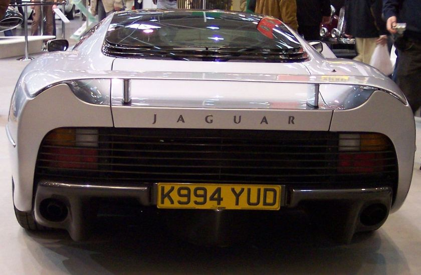 Jaguar XJ220 From Behind