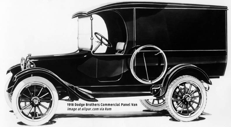 1918 Dodge brothers commercial-panel-van
