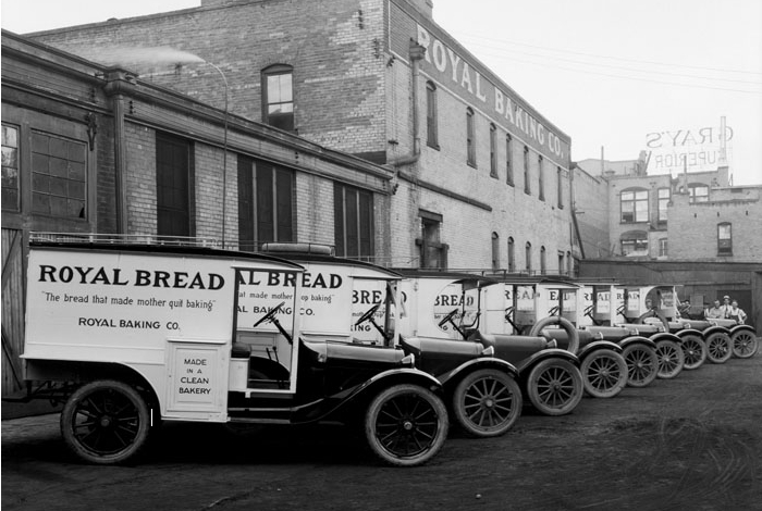 1920 Dodge Brothers delivery trucks, Salt Lake City