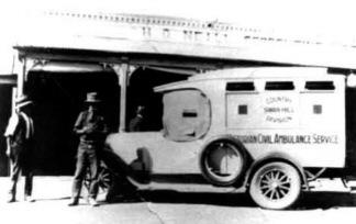1928 Dodge 126 serie Victoria's Ambu serv swan hill web
