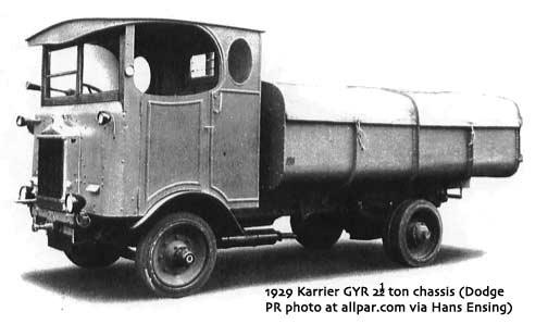 1929 Karrier Dodge GYR