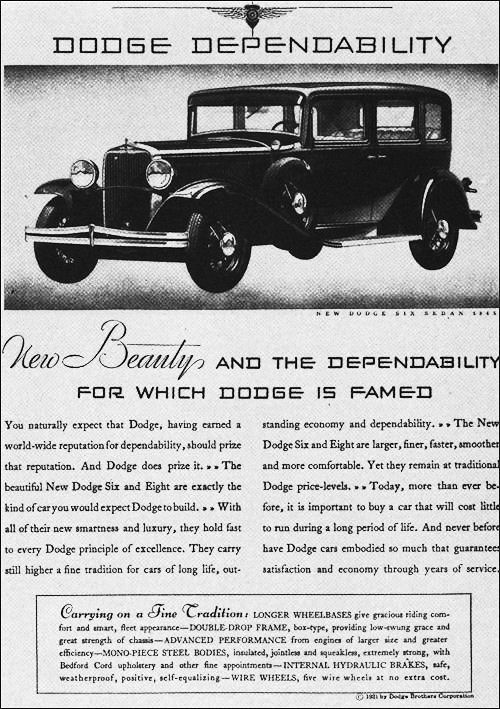1931 Dodge six sedan