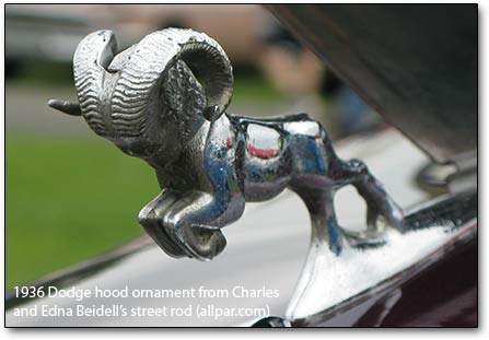 1936 Dodge hood ornament