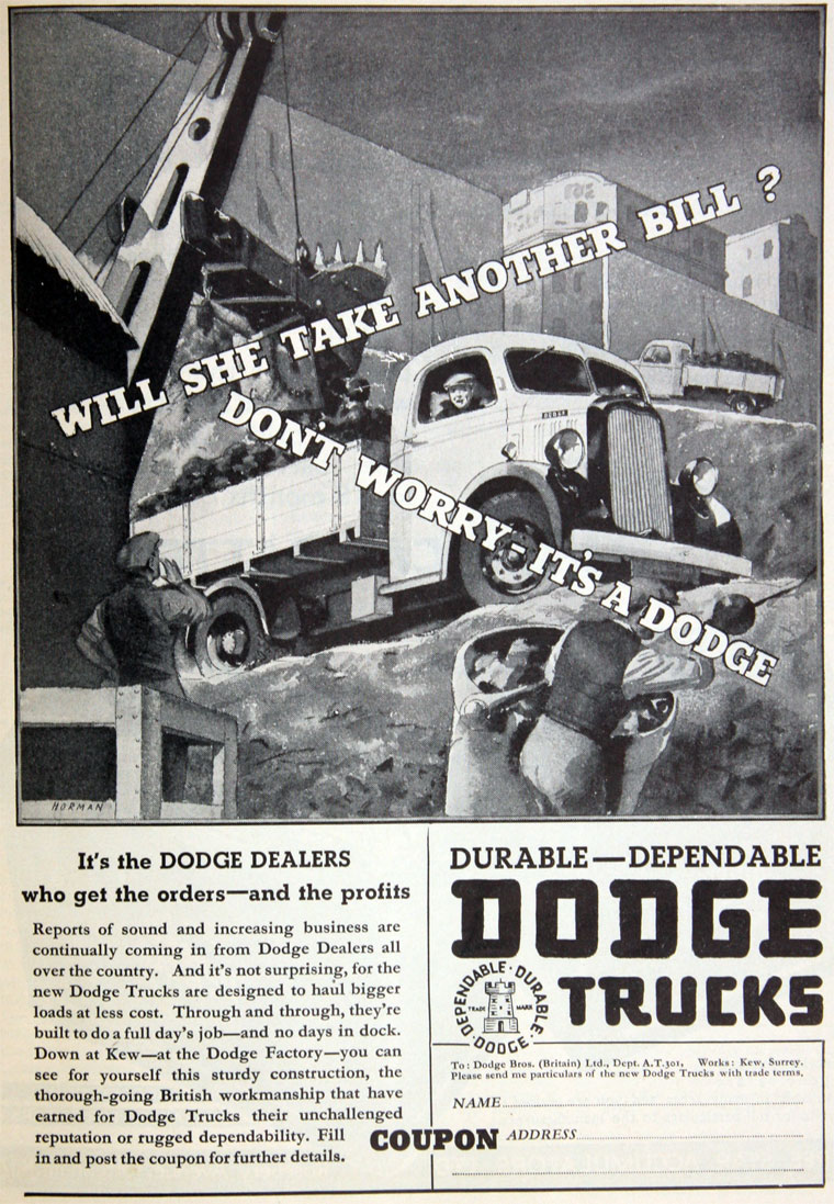 1937 Dodge Brothers Lorries