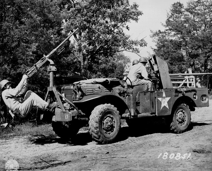 1940-45 Dodge WC55 in a posed picture