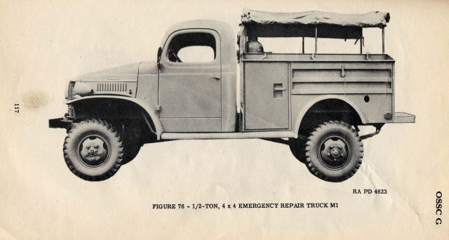 1940-45 M1 emergency repair truck, Dodge WC41
