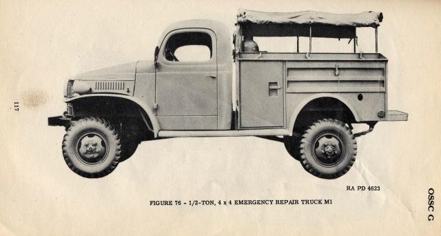 1940-45 M1 emergency repair truck, Dodge WC41