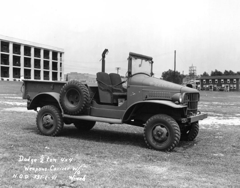 1940-45 WC-13 with optional M24 machine gun mount.