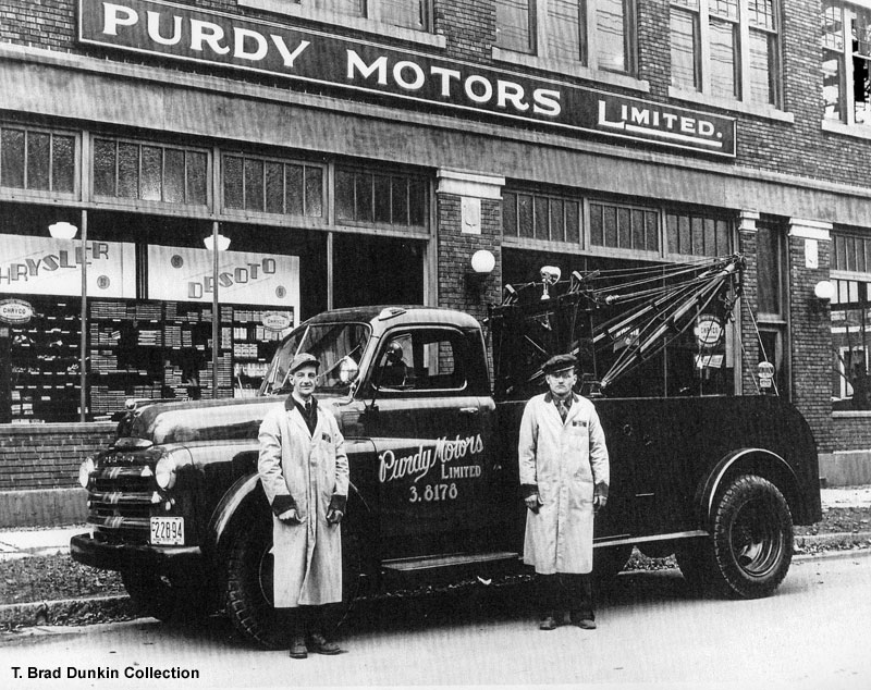 1948 Fargo tow truck for Purdy Motors of Halifax