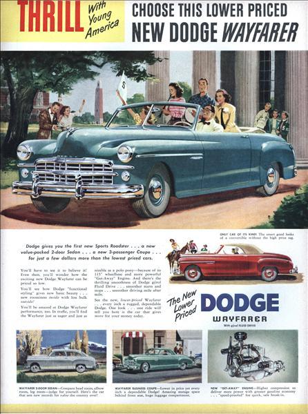 1949 dodge wayfarer ad