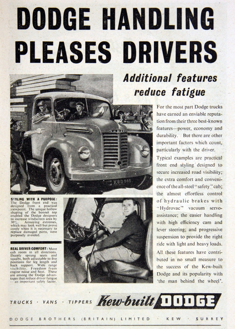 1951 Dodge Brothers Lorries
