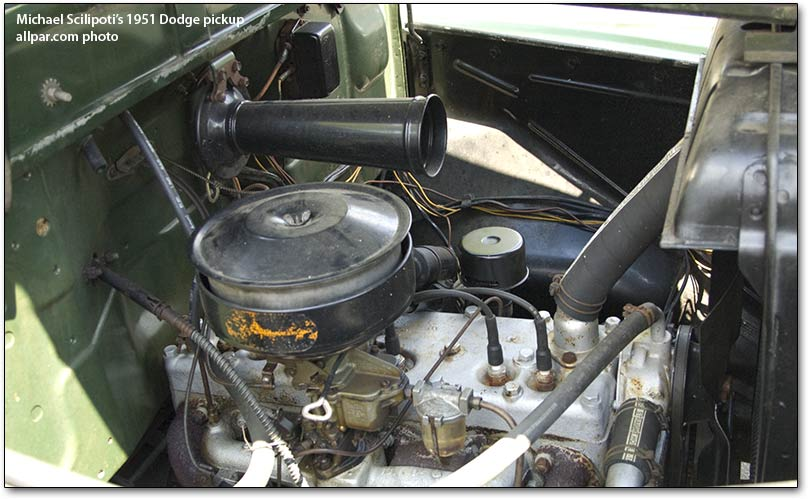 1951 Dodge Pickup truck engine